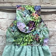 Succulents Designer Hand Towel