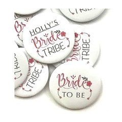 Bride Squad or Bride Tribe hen party badges - add the brides name
