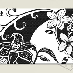 Black and White Contemporary Printable Instant Download MODERN TROPICAL FLOWERS