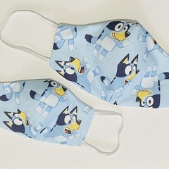 READY TO POST 3 layer Mask Bluey Face Cover Reusable Cloth Mask