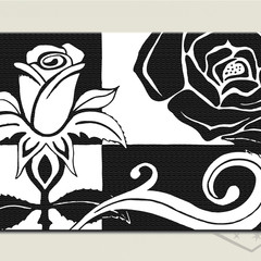 Instant Download CONTEMPORARY ROSE Textured Black and white print