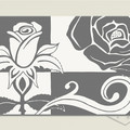 Printable CONTEMPORARY ROSE Textured Grey and White Print