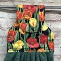 Red/Yellow Tulips Designer Hand Towel