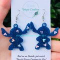 Stitch ~ Experiment 626~ 1 3/8 ~ Disney resin earrings
