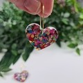 My beating Heart - Glitter Hoop Dangle earrings