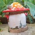 Tea Light Mushroom Fairy House
