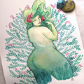 Green Goddess Original Watercolour