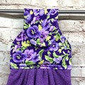 Purple pansies Designer Hand Towel