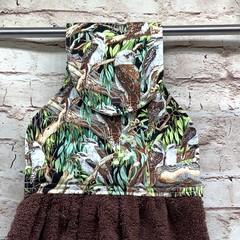 Australian kookaburras Designer Hand Towel