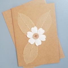Flower and Leaves Card
