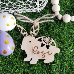 Mandala Easter Bunny Tag - Personalised