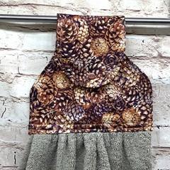 Pinecones Designer Hand Towel