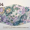 #34 : 3 LYR COTTON FACE MASK w/ FILTER POCKET + WITH/or/WITHOUT WIRE