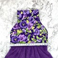 Purple pansies Designer Hand Towel