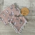 Boho bib & burp cloth set, bunny print,