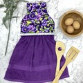 Purple pansies Hanging Hand Towel