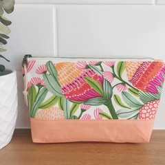 Pouch- Cotton Canvas Gum Blossoms