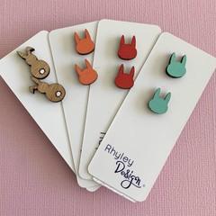 Rabbit Earring Studs