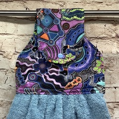 Indigenous print Hanging Hand Towel