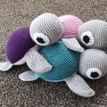 Handmade Crochet Turtle Toy, Turtle Amigurumi