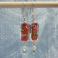 Art Glass Cylinder Bead Earrings