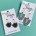 Acrylic Patterned Earrings