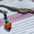 Mermaid bookmark Thankyou charm beads butterfly