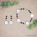 Natural Howlite Earring and Bracelet set