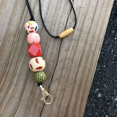 """The Red Essy """"Wendy"""" Beaded Necklace Lanyard"""
