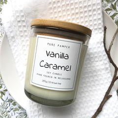 Soy Candle - Vanilla Caramel | Home Fragrance | Sweet Scent