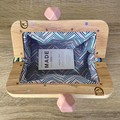 HANDMADE CLUTCH WITH FEATURE WOODEN HANDLE