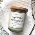 Highly ScentedSoy Candle - Japanese Honeysuckle | Home Fragrance | Floral Scent