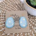 Easter Egg Fabric Earrings
