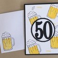 Age  Male Birthday Handmade Card - Beer 21st 30 40 50 60