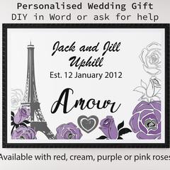DIY Custom Printable Wedding Gift Print