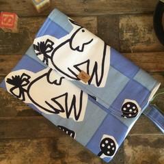 Nappy Wallet - Blue/White Donkey & Bear