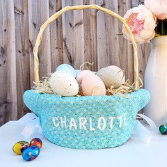 Personalised Easter Basket Liner | Flowers