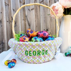 Personalised Easter Basket Liner | Spots