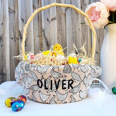 Personalised Easter Basket Liner | Hens