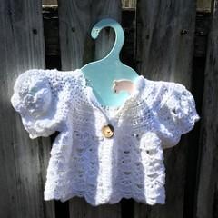 Crochet Baby Girls 100% Cotton Cardigan