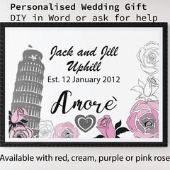DIY Custom Printable Wedding Gift Poster