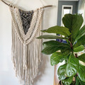 Large cream/grey wall hangings