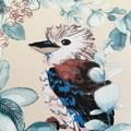 Kookaburra padded book sleeve. Booksleeve with closure.