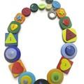Colourful button necklace - Shape Fun