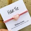 Hair Tie - Pink - Heart - Free Postage