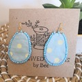 Easter Egg Fabric Earrings