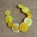 Ducks button bracelet