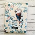 Kookaburra padded book sleeve. Booksleeve with closure.