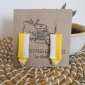 Yellow & whiteDangle Earrings
