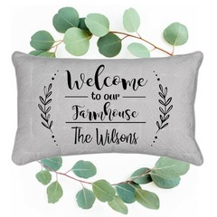 Personalised welcome Family Cushion with names